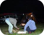 プライベート焚き火トークの準備