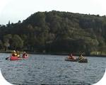 野尻湖をカヌーでお散歩