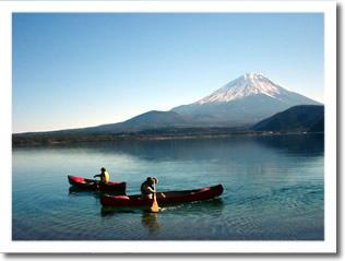 富士山をバックにKevipaさんとししたろ