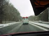 雪の中を行くkevipa号