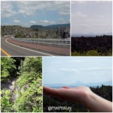 開門岳と滝
