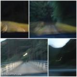 暗く細い山道