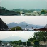 富士山が前方に