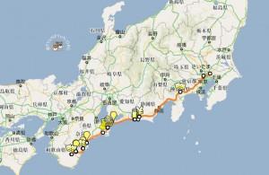 2010年5月9日のルート 600km
