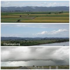 雨雲が厚い